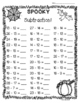 Halloween Subtraction Practice Worksheet Pack! - 3 Leveled