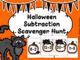 Halloween Subtraction Scavenger Hunt