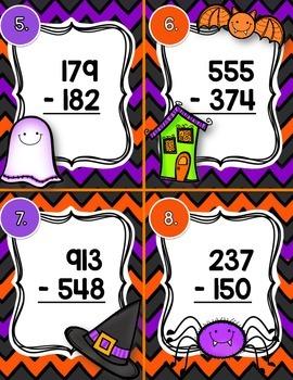Halloween Subtraction Scoot