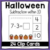 Halloween Subtraction Within 10