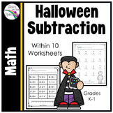 Halloween Subtraction Worksheets