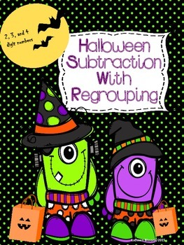 Halloween Subtraction with Regrouping