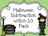 Halloween Subtraction within 10 Activity 3 Pack