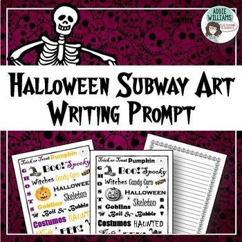 Halloween Writing / Poetry Prompt