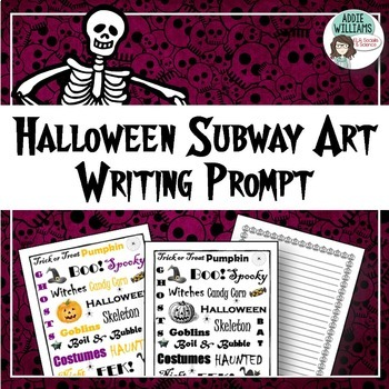 Halloween Writing / Poetry Prompt - FREE