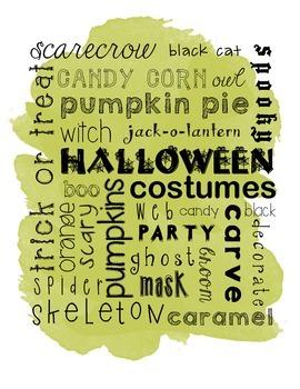 Halloween Subway Word Art
