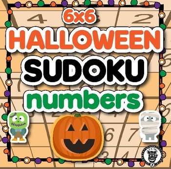 Sudoku Math Activity Level 2 - Halloween