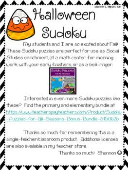 Halloween Sudoku Puzzle Bundle