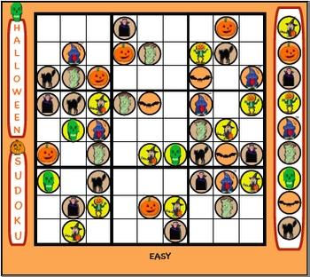 Halloween Sudoku Smartboard Puzzles