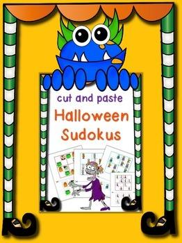 Cut and Paste Halloween Sudokus