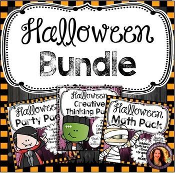 Halloween Activity Bundle:  Halloween Literacy, Halloween Math, Halloween Games