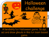 Halloween Super Challenge team card game cards. Draw, act