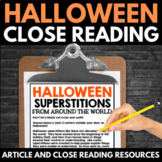 Halloween Close Reading - No Prep Halloween Articles, Resources, and Activities