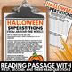 Halloween Close Reading - No Prep Halloween Articles, Reso