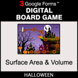 Halloween: Surface Area and Volume - Digital Board Game |