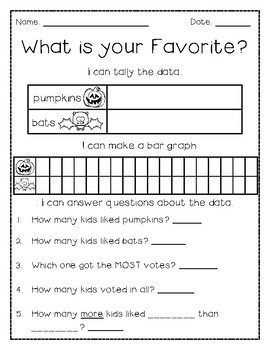 Halloween Survey and Graphing Activity FREEBIE