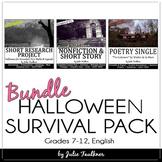 Halloween Lessons, Middle/High School English, Bundled Mini Unit