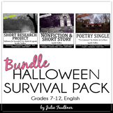 Halloween Activities for Middle or High School English, Bundled Mini Unit
