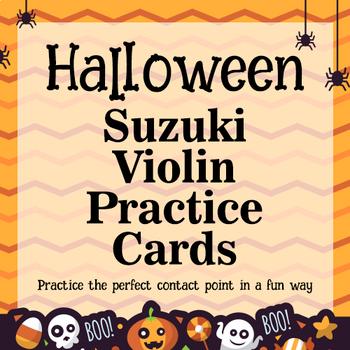 Halloween Suzuki Violin Practice Cards