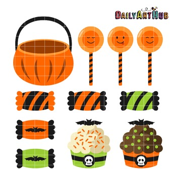 Halloween Sweets Clip Art - Great for Art Class Projects!