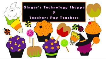 Halloween Sweets Clipart * Candy * Lollipops * Cupcakes * Candy Apples