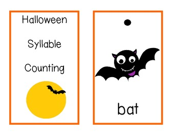 Halloween Syllable Counting
