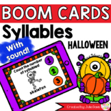 Halloween Syllable Counting Digital Game Boom Cards