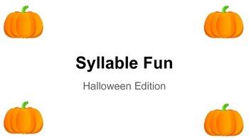 Halloween Syllable Fun!