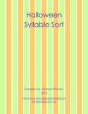 Halloween Syllable Sort (1 & 2 Syllable words)