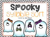 Halloween Syllable Sort Center