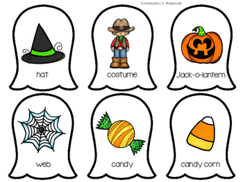 Halloween Syllable Sort Center