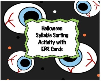 Halloween Syllable Sort with EPR Cards