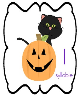 Halloween Syllable Sorting Game