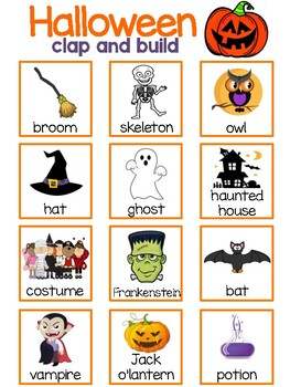 Halloween Syllable Stack