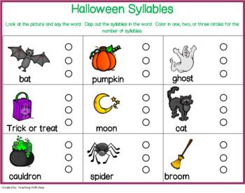 Halloween Syllables