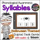Halloween Syllables BOOM Cards™ * Distance Learning *