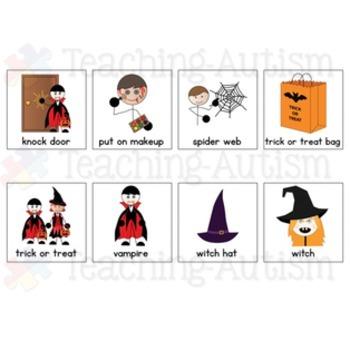 Halloween Symbol Support Cards - Autism