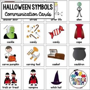 Halloween Symbol Support Cards - Autism