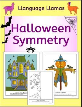 Symmetry - Halloween - NO PREP Fun Geometry Activities