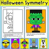 Halloween Math Symmetry Activity - Zombie, Witch, Ghost, F