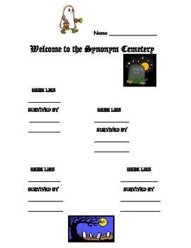 Halloween Synonym Cemetery