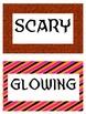 Halloween Synonym and Adjective Sort