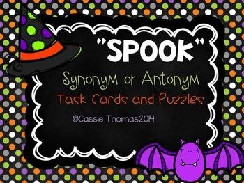 Halloween Synonym and Antonym {Word Work}