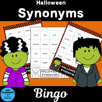 Halloween Synonyms Bingo