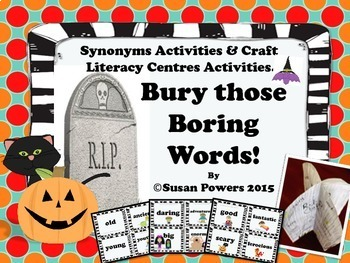 A Halloween Synonyms Card Game and Craftivity