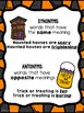 Halloween Games: Synonyms and Antonyms