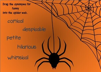 Halloween Synonyms and Antonyms Boom Cards