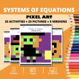 Halloween: Systems of Equations Pixel Art