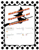 Halloween Systems of Equations Practice