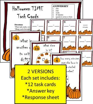Halloween TIME Differentiated Activities
